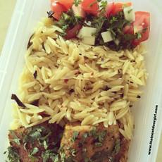 Orzo Aglio e Olio - Healthy lunch box idea