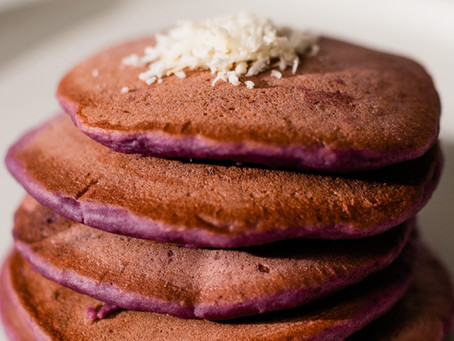 Quick Breakfast Idea: Fluffy Ube Pancakes