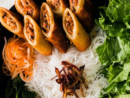 Vietnamese Egg Rolls and Rice Vermicelli