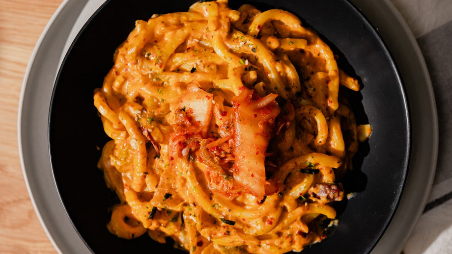 15-Minute Creamy Kimchi Udon