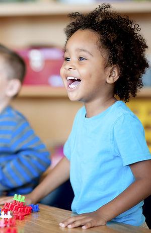 Montessori preschool child