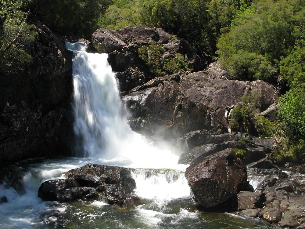 Saltos en el Parque Nacioal Alerce Andino