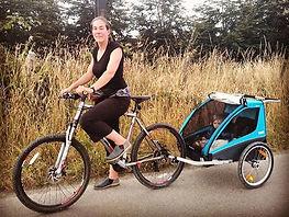 Carro  remorque Bicicleta Coche para 2 N