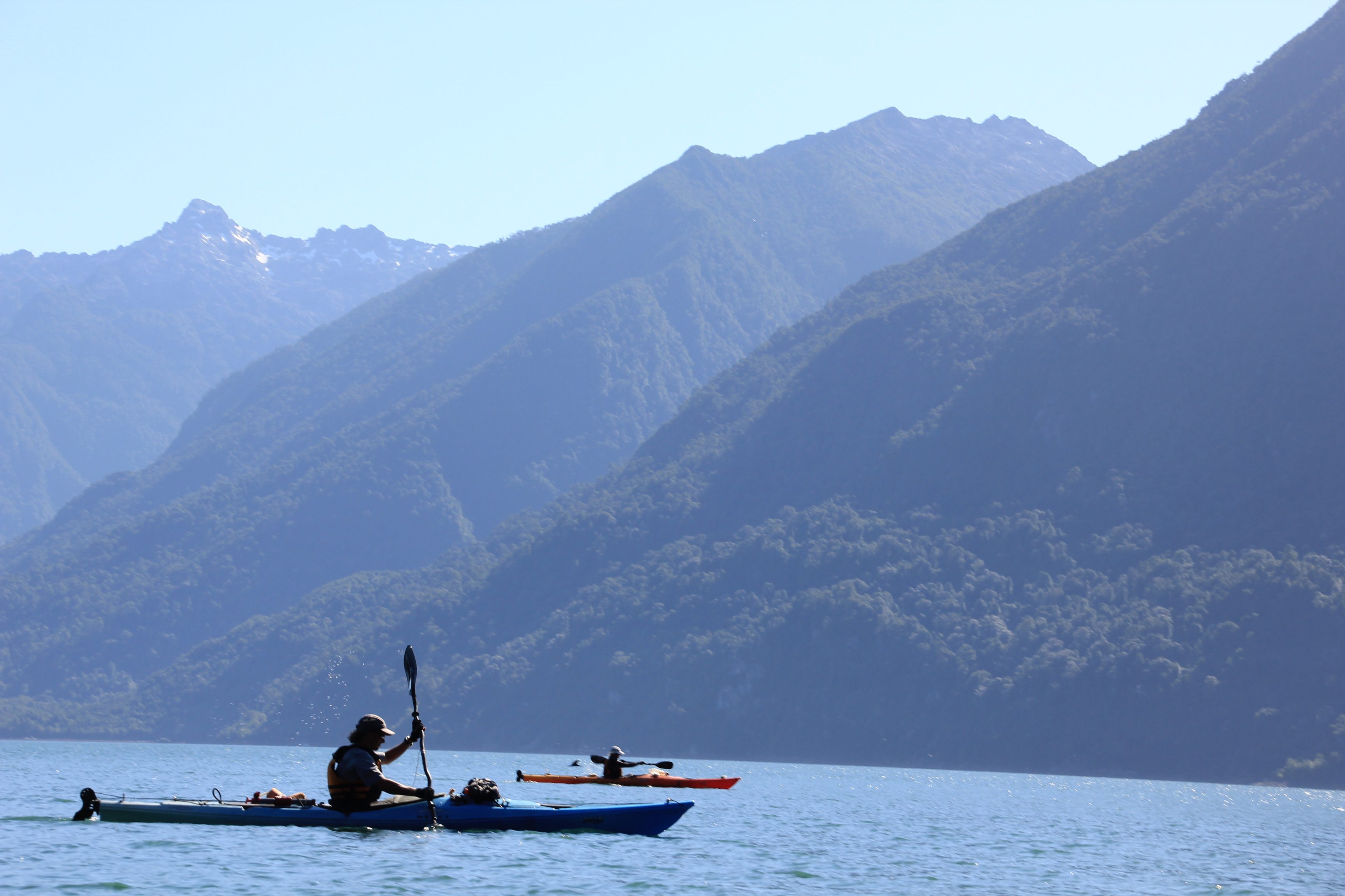 Kayak Pumalin Park Tourism Patagonia Chile