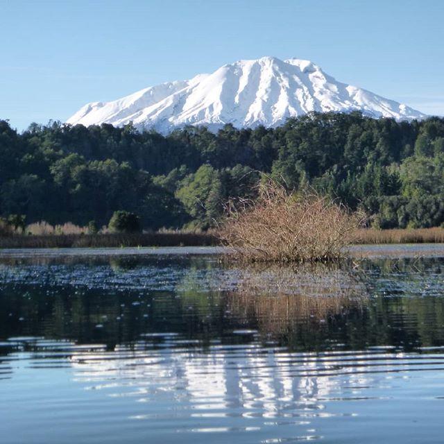 Volcan Calbuco en kayak por la laguna la poza
