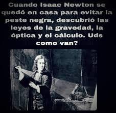 Isaac Newton tiempo de peste negra