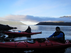 Kayak Patagonia sunrise