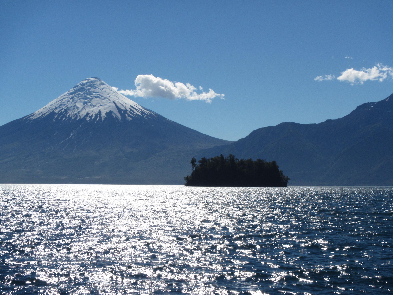 Lago todos los santos vista volcan