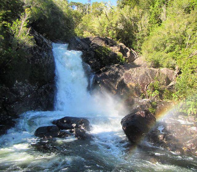 Cascada del parque Alerce Andino Chaica