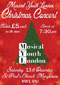 musical youth london christmas poster