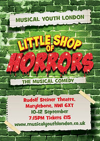musical youth london little shop of horrors poster
