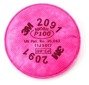 3M 2091 P100 Filter, [1 PAIRS]