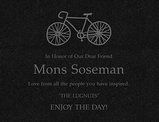 Mons Memorial Bench Plaque