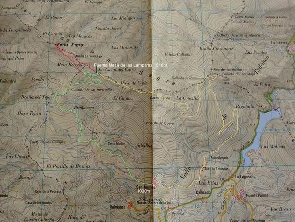 Excursión a Peña Sagra. Cambio para el miércoles día 15