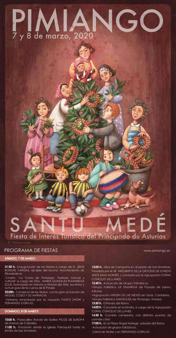 Cartel programa fiesta de Santu Medé