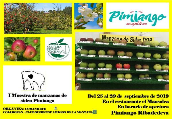 I Muestra de manzanas de sidra en Pimiango
