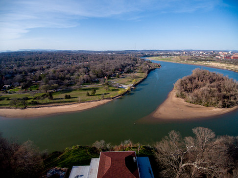 Overlooking Looney Islands in Tennessee River at Sequoyah Park