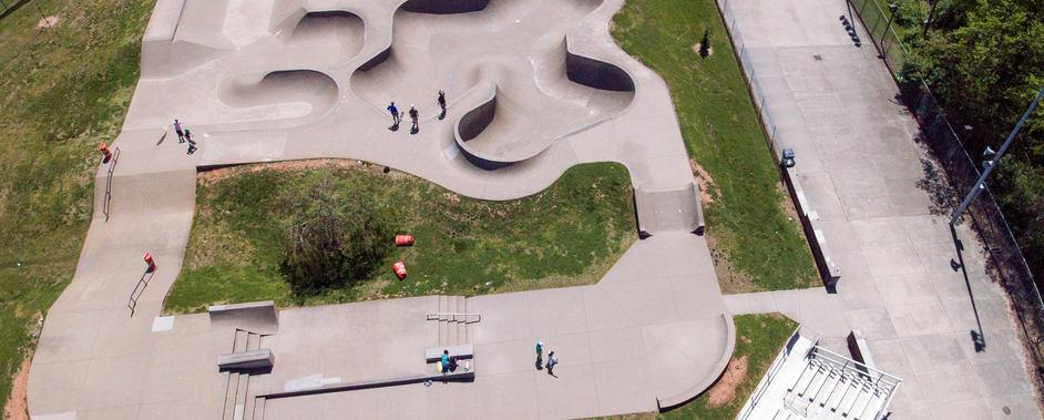 Skate park in Tyson Park