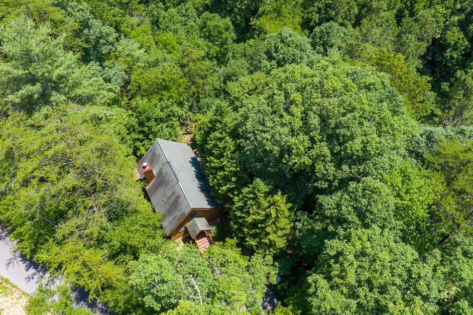 cabin from above