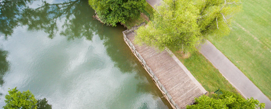Holston River Park fishing dock