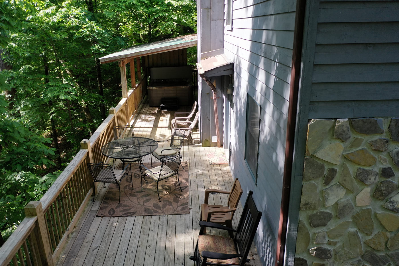 back porch from the air