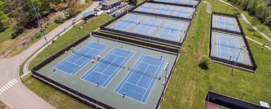 Tyson Park courts during tournament