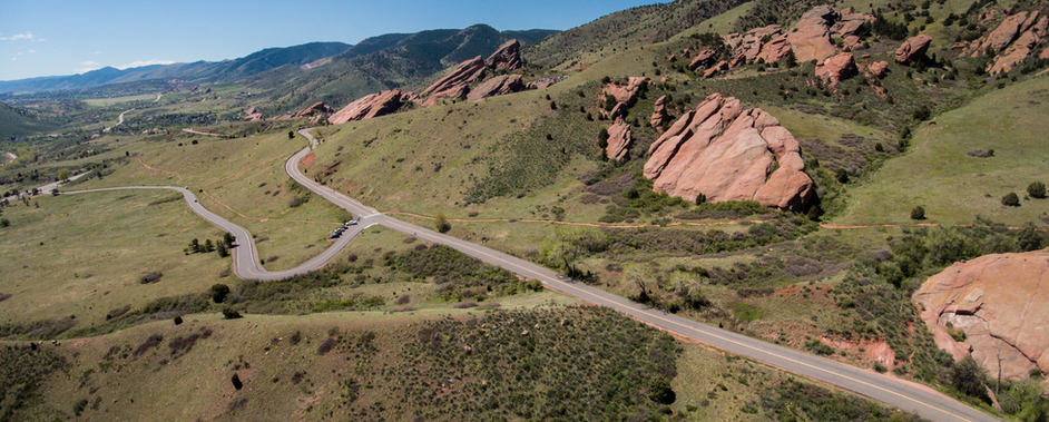 Approaching Red Rocks Ampitheatre