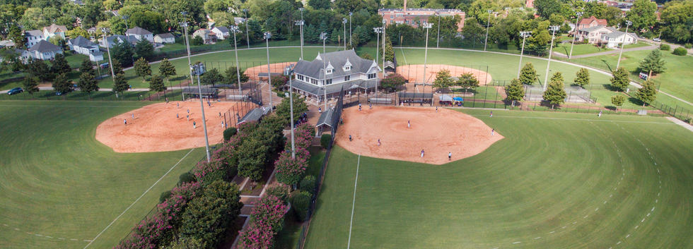 Ballfields in Caswell Park