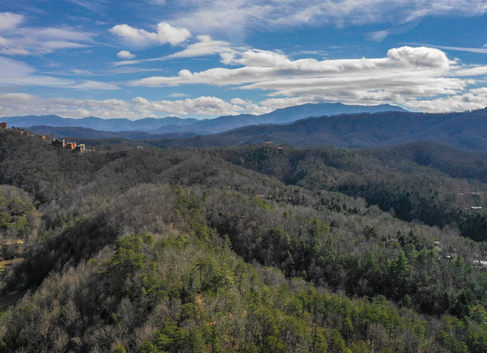 Aerial view of Smokies