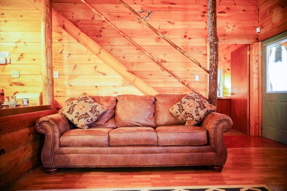 Glowing cabin interior