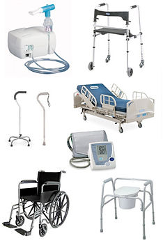 hospital bed rentals and purchase, walkers, canes, commodes, toilet safety seat, shower transfer bench