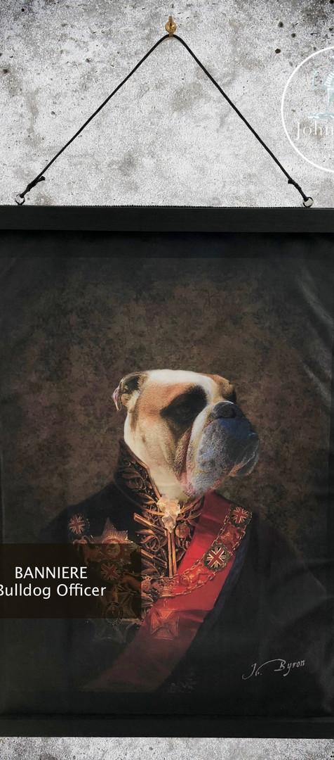 Bannière Velour - Bulldog Officer