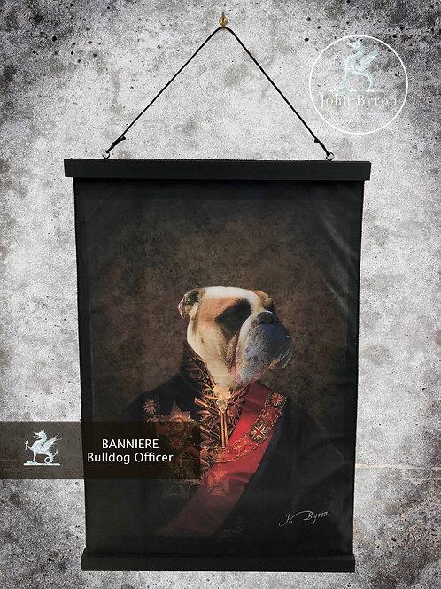 Bannière / Tenture Bulldog Officer