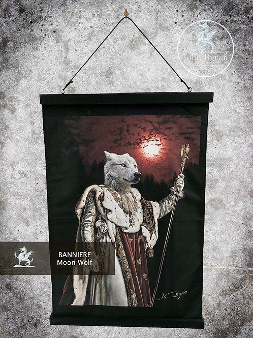 Bannière / Tenture Moon Wolf