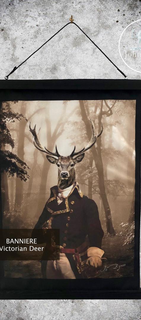 Bannière Velour - Victorian Deer