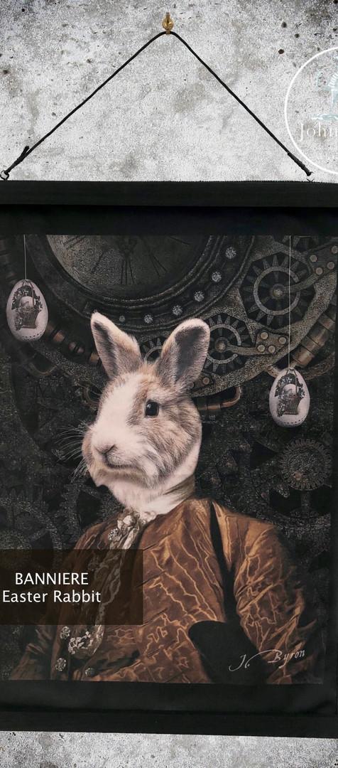 Bannière Velour - Easter Rabbit