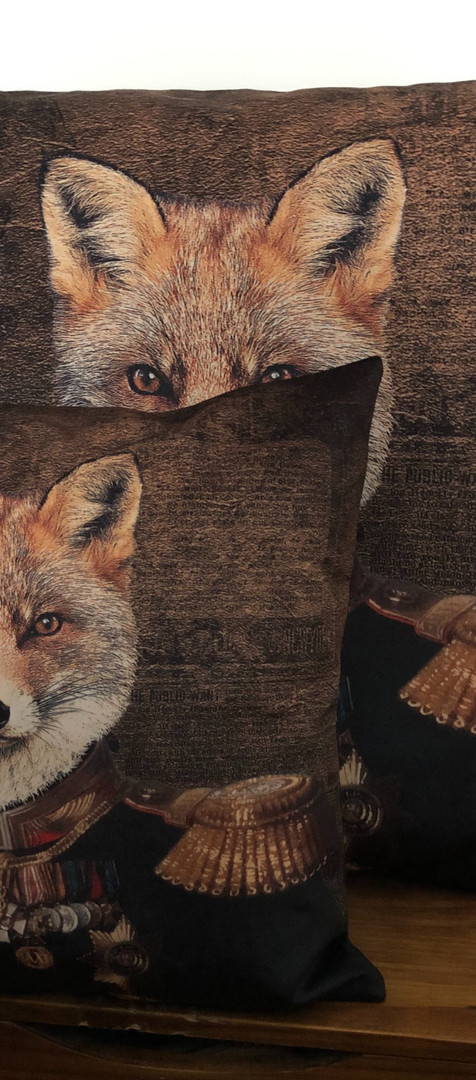 Coussin Velour - Red Fox