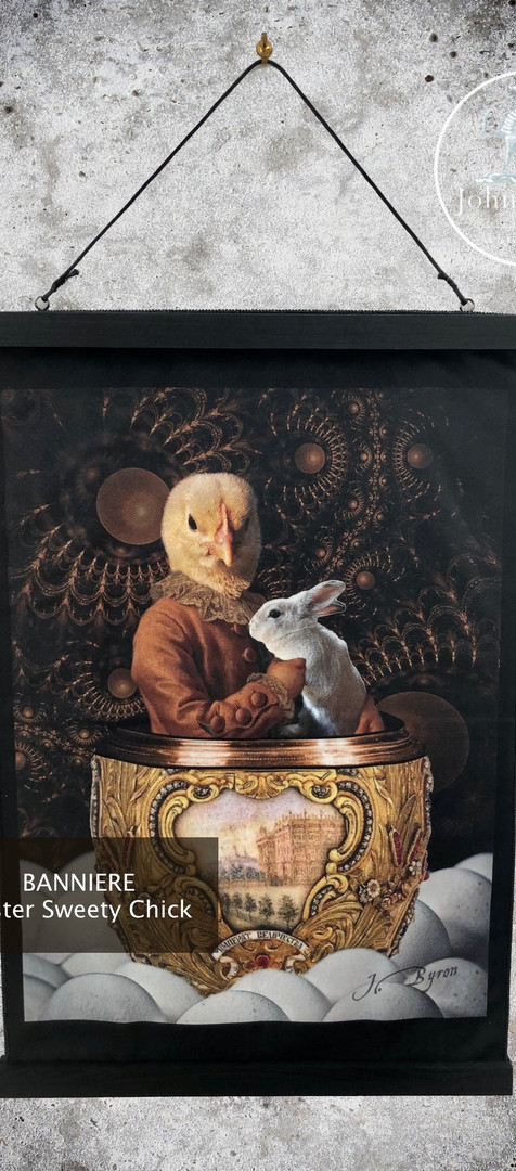 Bannière Velour - Easter Sweety Chick