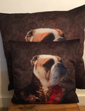 Coussin Velour - Bulldog Officer