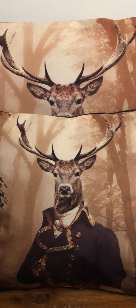 Coussin Velour - Victorian Deer
