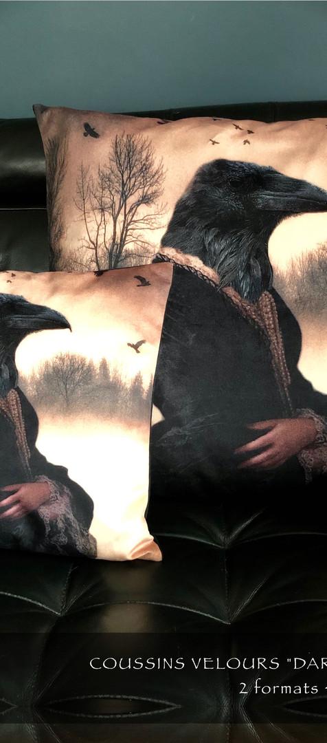 Coussin Velour - Dark The Widow
