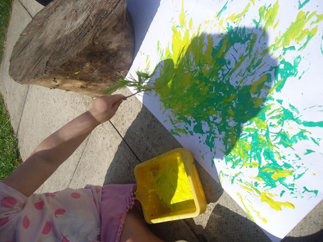 Painting with nature in the sun