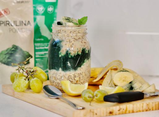 Virgo's Vegan Spirulina Overnight Oats