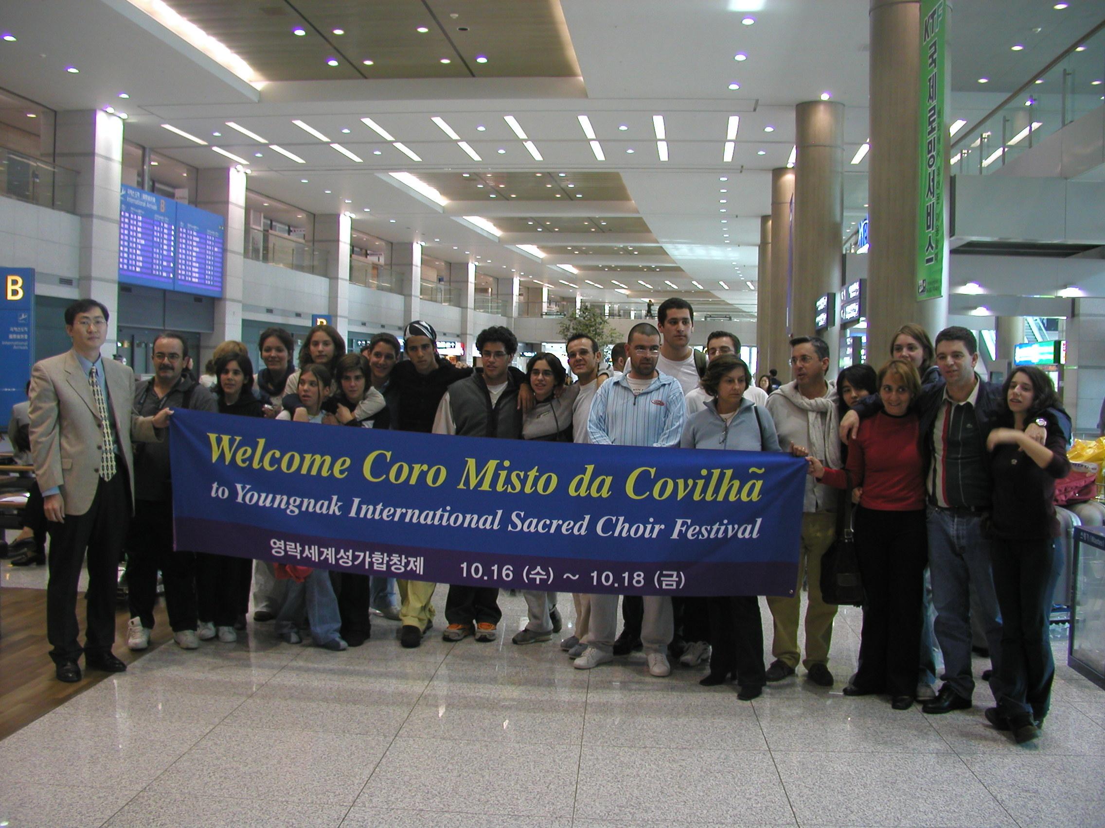 Chegada a Seoul