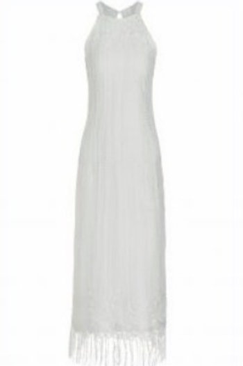 Ana Alcazar Long White Lace Dress Clearence Sale