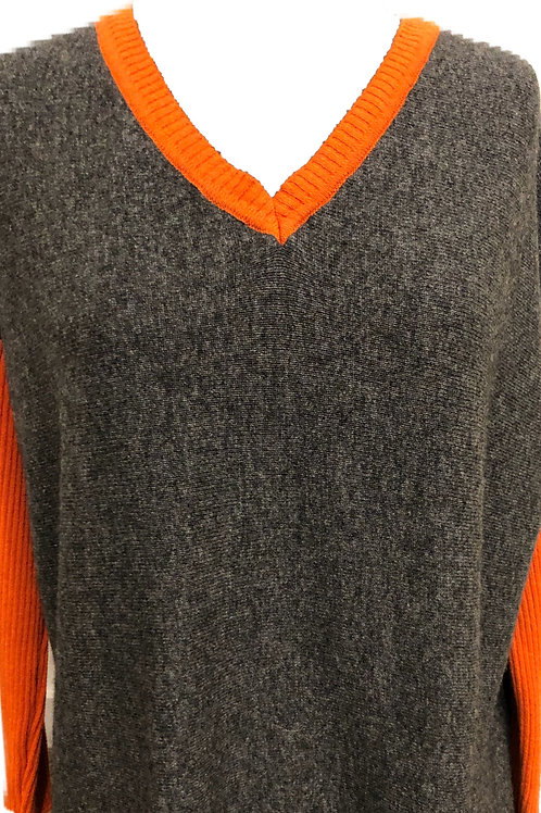 Miss Sugar Cashmere V neck Jumper (one small star on back) AW2020 HSCon back