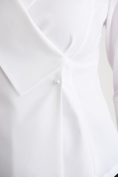 Joseph Ribkoff White Blouse Style 203295