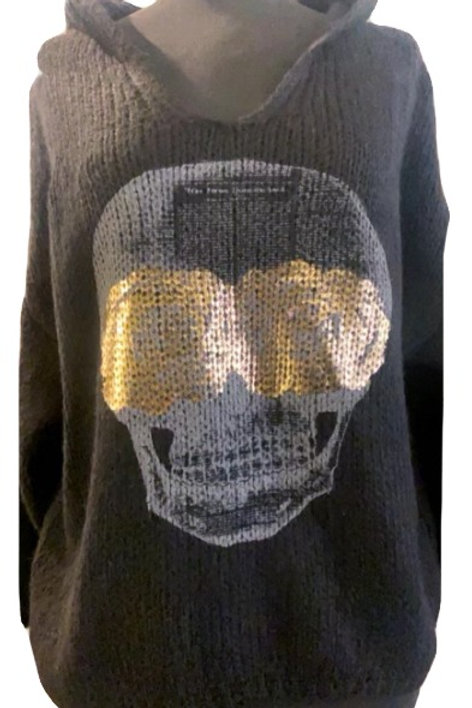 Knitted Skull Hoodie QW2020 High Street Collection