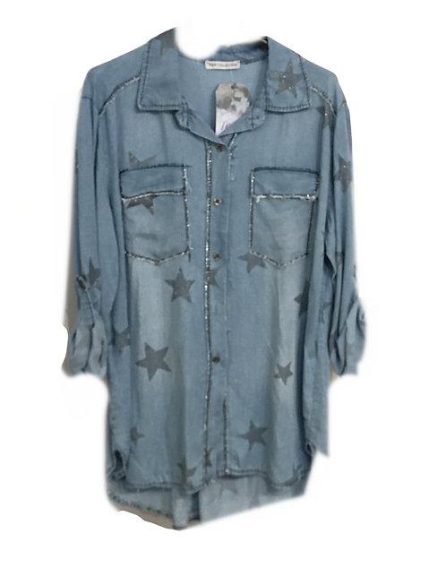Soft Denim Star Shirt New Collection
