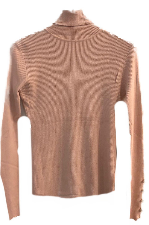 Military Style Ribbed Roll-Neck